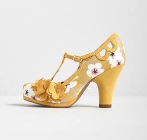 1950s-Floral-T-Strap-Heels