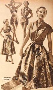1950s-Tiki costume-Hawaiian-Dress