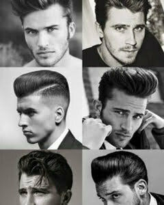 medium 1950s men hair