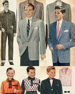 1950s teen boys fashion