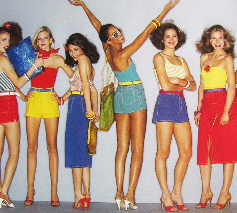 The colorful style of 1980s clothes