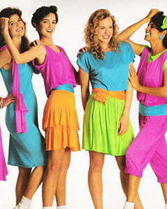 1980s Neon Color