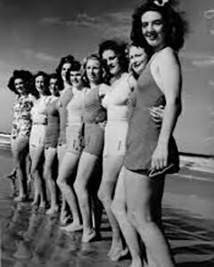 1940s One-piece swimsuits