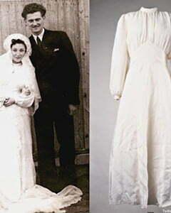 1940s Parachute wedding dresses