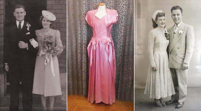 1940 sPostwar wedding dresses