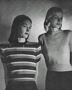 1940s Sweater tops