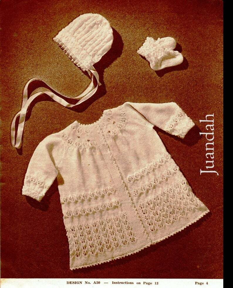 1940s Knitting Patterns-Vintage Baby Sets Pictures ...