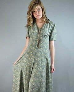 1980s maxi dress
