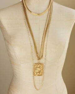 laying necklace