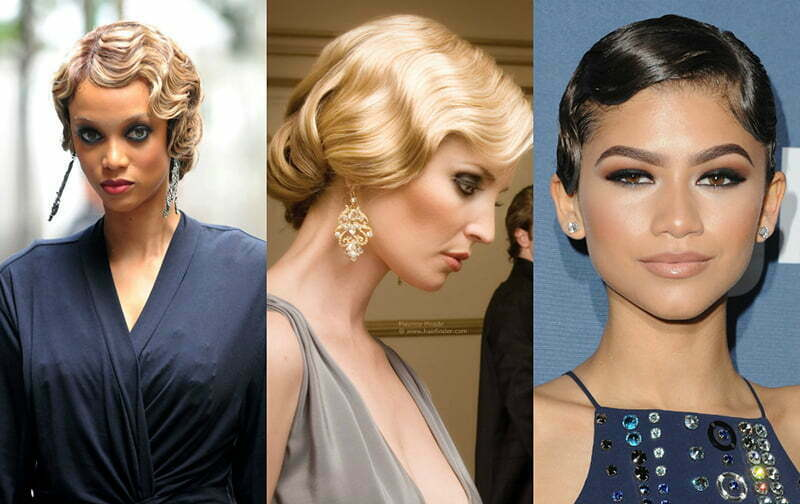 1950s Vintage Finger Wave Hairstyles Long Hair