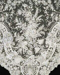1950s Alençon lace
