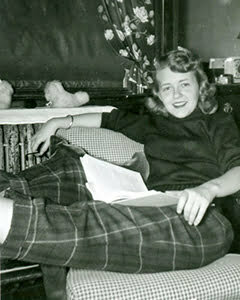 1950s Plaid pants