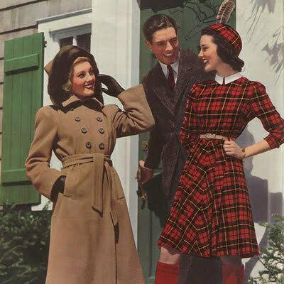 Plaid Pattern Fashion: Vintage Outfit Ideas