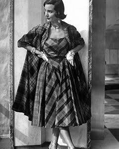 1950s Plaid coat ideas