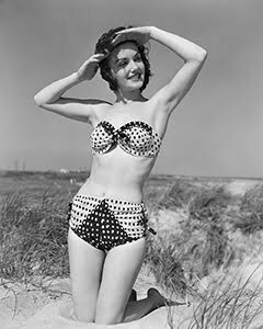 Polka-dot swimsuit