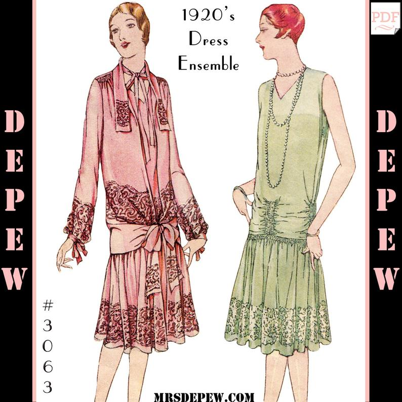Vintage Sewing Pattern Reproduction Ladies' 1920s Martial image 0