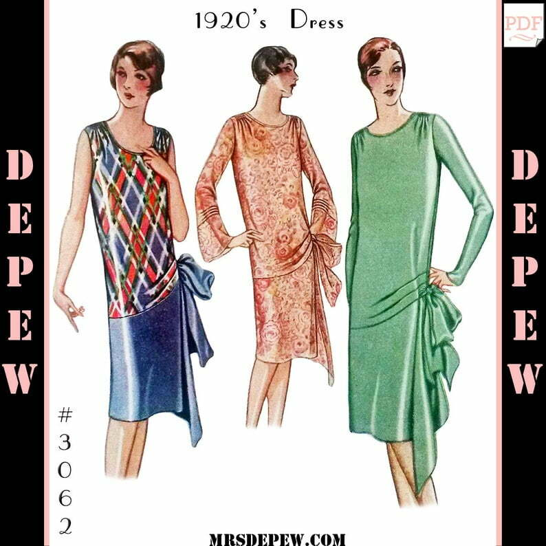Vintage Sewing Pattern Ladies' 1920s Evening Gown or Day image 0