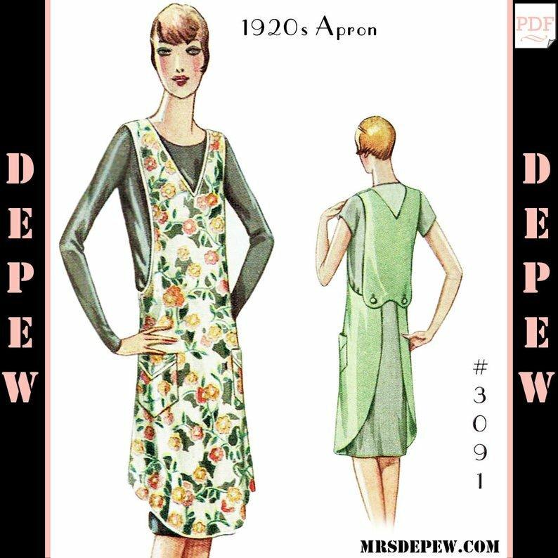 Vintage Sewing Pattern 1920s Ladies' Apron 3091 Sizes image 0