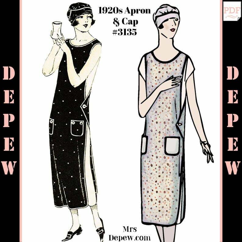 Vintage Sewing Pattern 1920s Ladies' Apron & Cap 3135 image 0