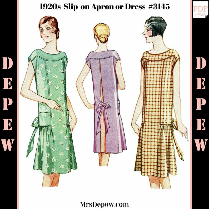 Vintage Sewing Pattern 1920s Ladies' Slip On Apron and image 0