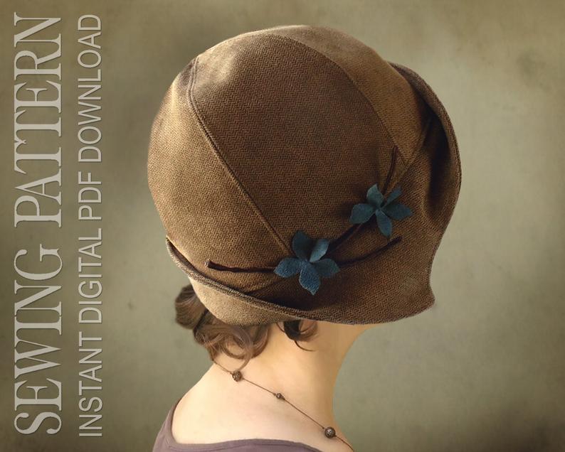 SEWING PATTERN  Clementine 1920's Twenties Cloche Hat image 0