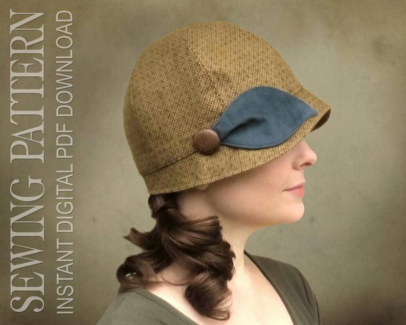 SEWING PATTERN  Penny 1920s Twenties Cloche Hat for Child or image 0