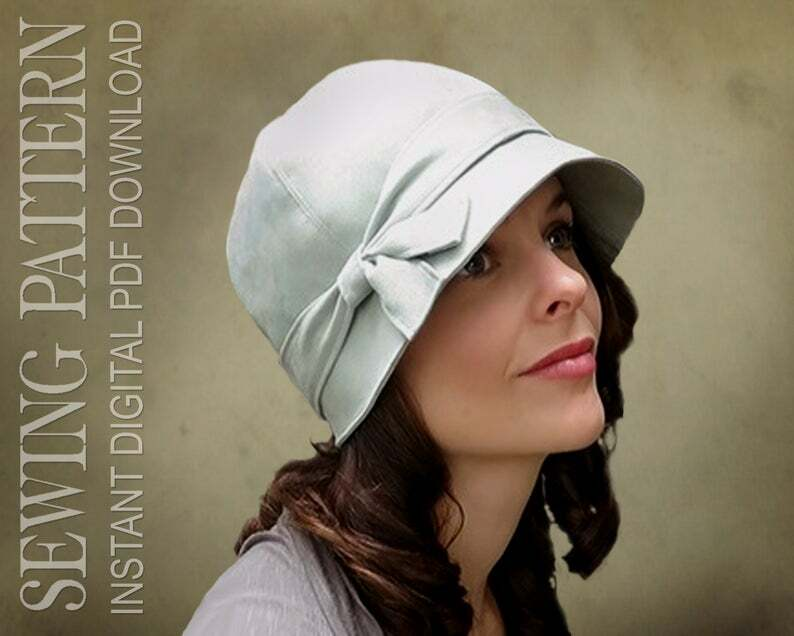 SEWING PATTERN  Penny 1920s Twenties Cloche Fabric Hat for image 0