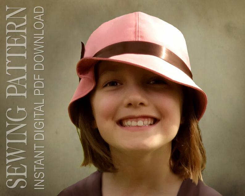 SEWING PATTERN  Tess 1920s Twenties Cloche Fabric Hat for image 0