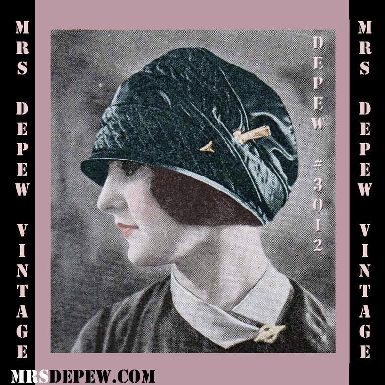 Vintage Sewing Pattern Ladies' 1920's Flexible Beret image 0