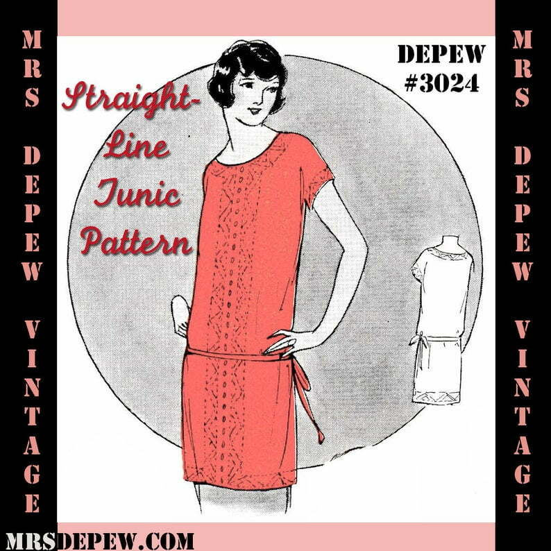 Vintage Sewing Pattern Instructions 1920s Tunic Blouse or image 0