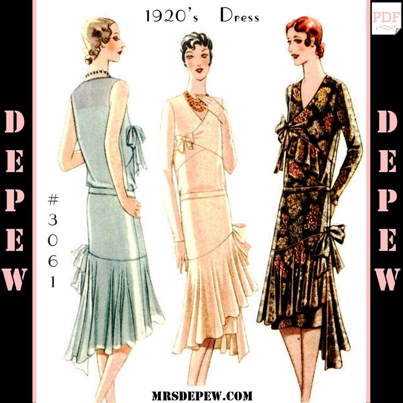 Vintage Sewing Pattern Reproduction Ladies' 1920s Maggy image 0