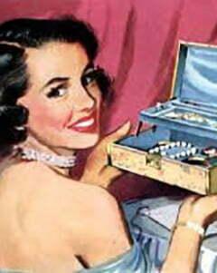 1950s costume jewelry