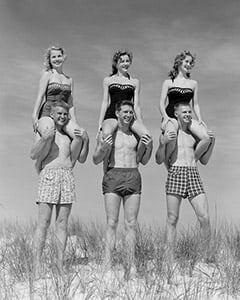 1950s bathing suit