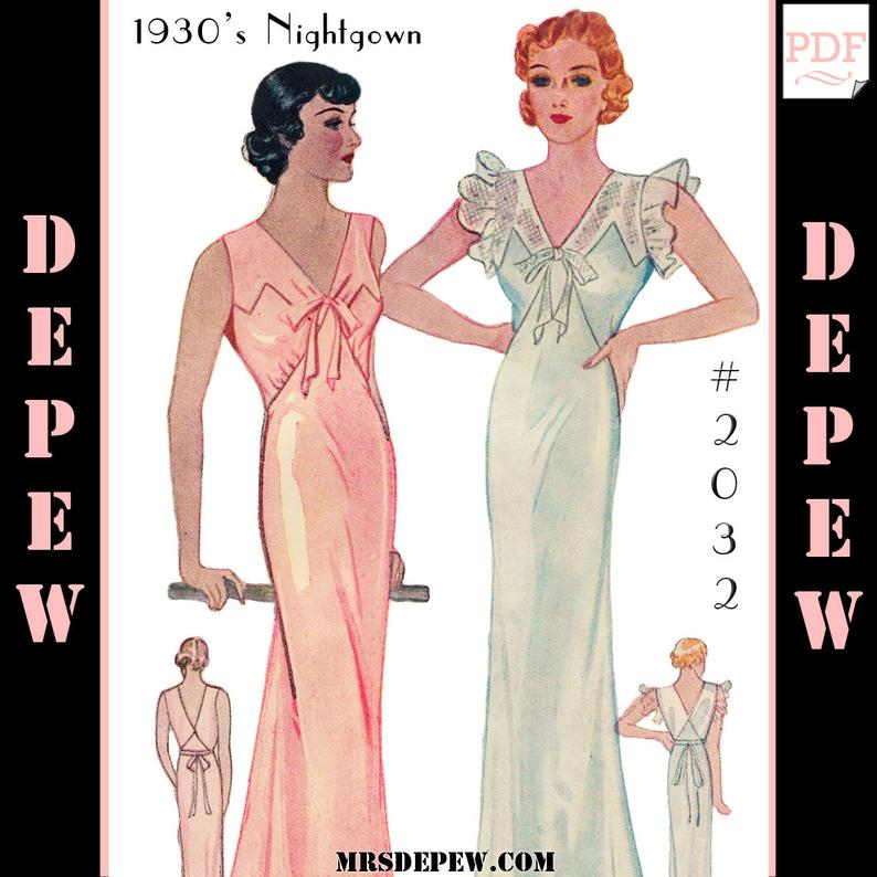 Vintage Sewing Pattern Reproduction 1930's Ladies' image 0