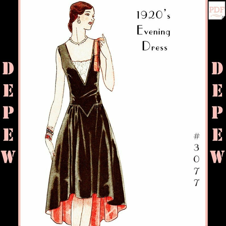 Vintage Sewing Pattern MultiSize Ladies' 1920s Robe de image 0