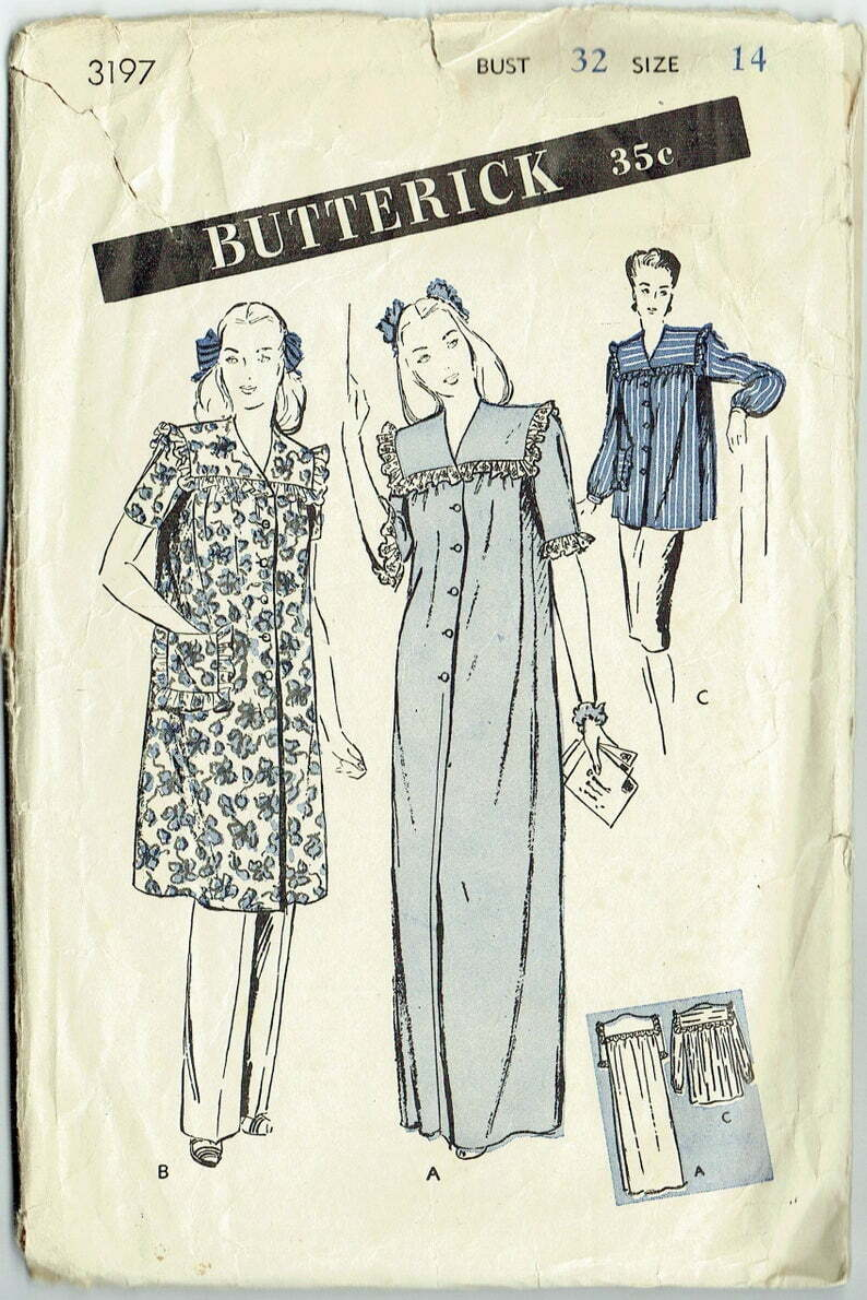 Vintage Sewing Pattern Ladies' Night Gown Negligee image 0