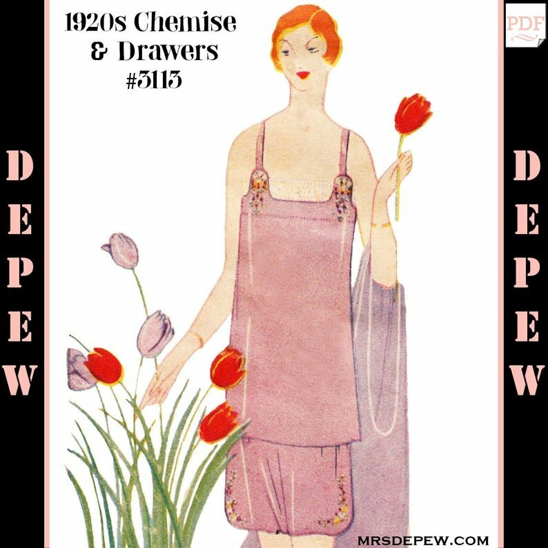 Vintage Sewing Pattern Ladies' 1920s Step-in Chemise & image 0