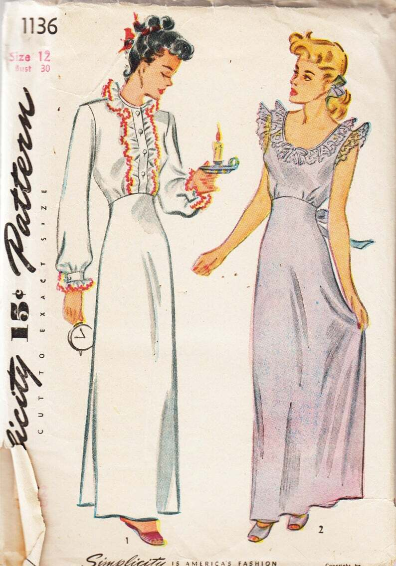 Vintage Sewing Pattern Simplicity 1136 Ladies' 1940s image 0