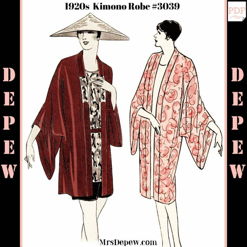 Vintage Sewing Pattern Instructions 1920s Flapper Easy Kimono image 0