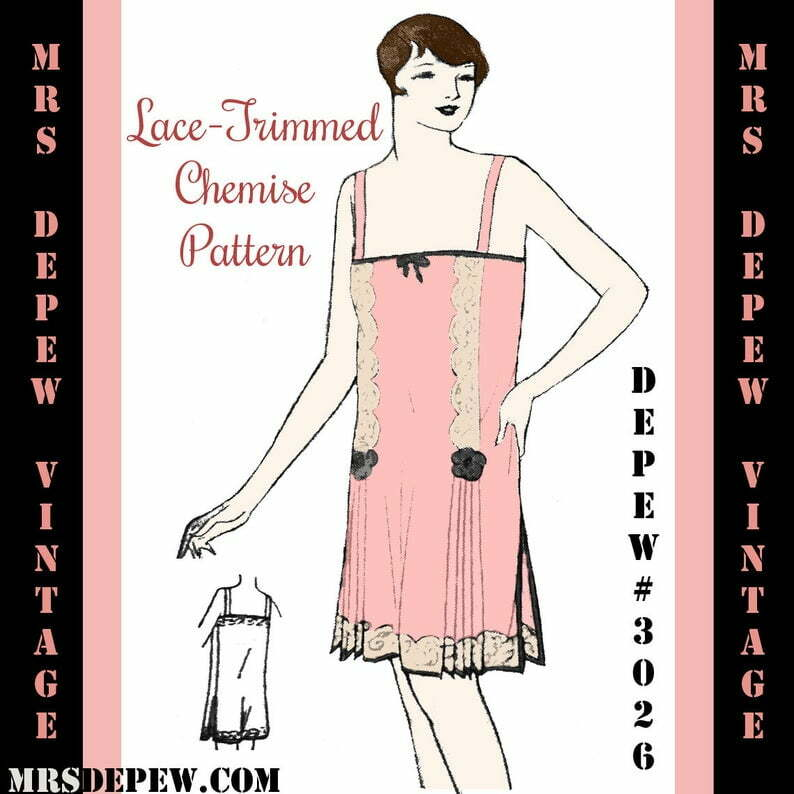 Vintage Sewing Pattern 1920's Flapper Chemise Teddy 3026 image 0