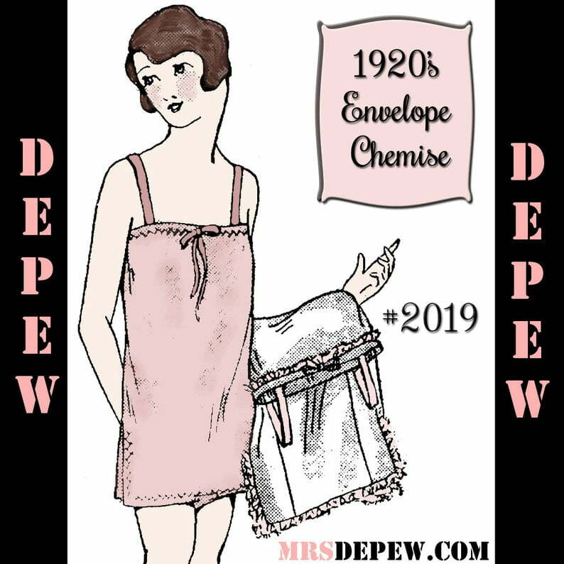 Vintage Sewing Pattern 1920's Flapper Slip and Envelope image 0