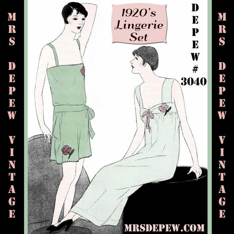 Vintage Sewing Pattern Instructions 1920's Flapper Teddy image 0
