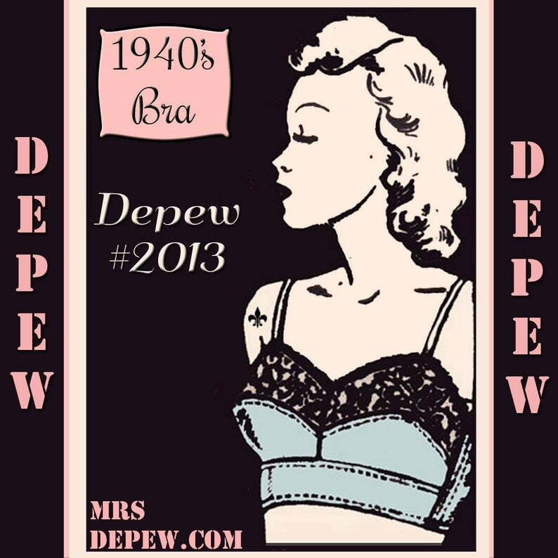 Vintage Sewing Pattern Ladies 1940's French Bra Digital image 0