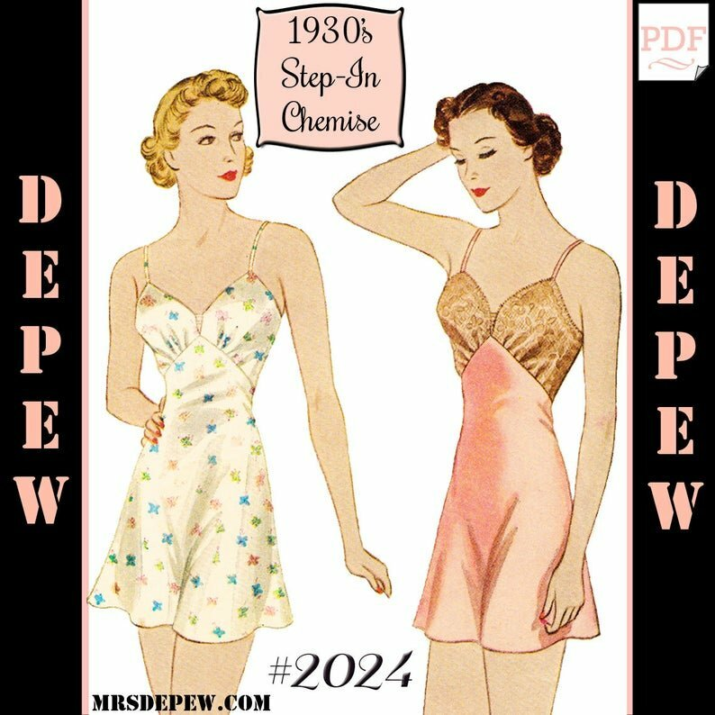 S605 Vintage Sewing Pattern Multi Size Reproduction 1930's image 0