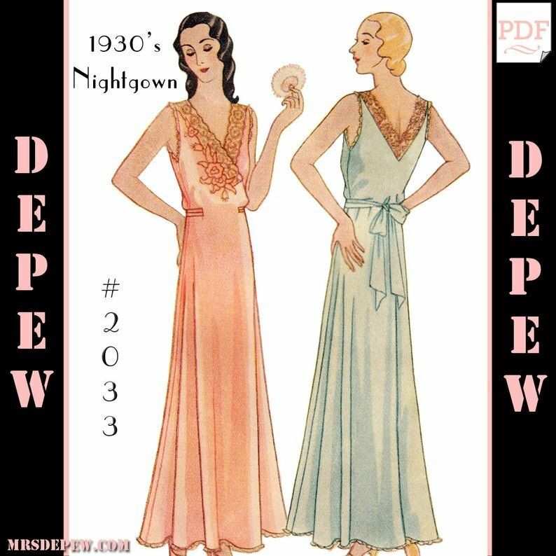 Vintage Sewing Pattern Multi-Size Reproduction 1930's image 0