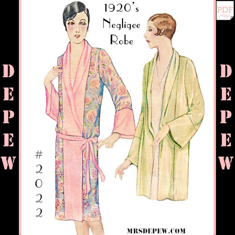 1920s Kimono Negligee Robe Pictures Photos Patterns Vintage Retro