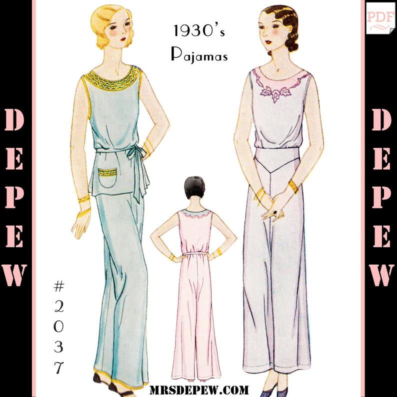 Vintage Sewing Pattern 193's Ladies' Pajama Blouse and image 0