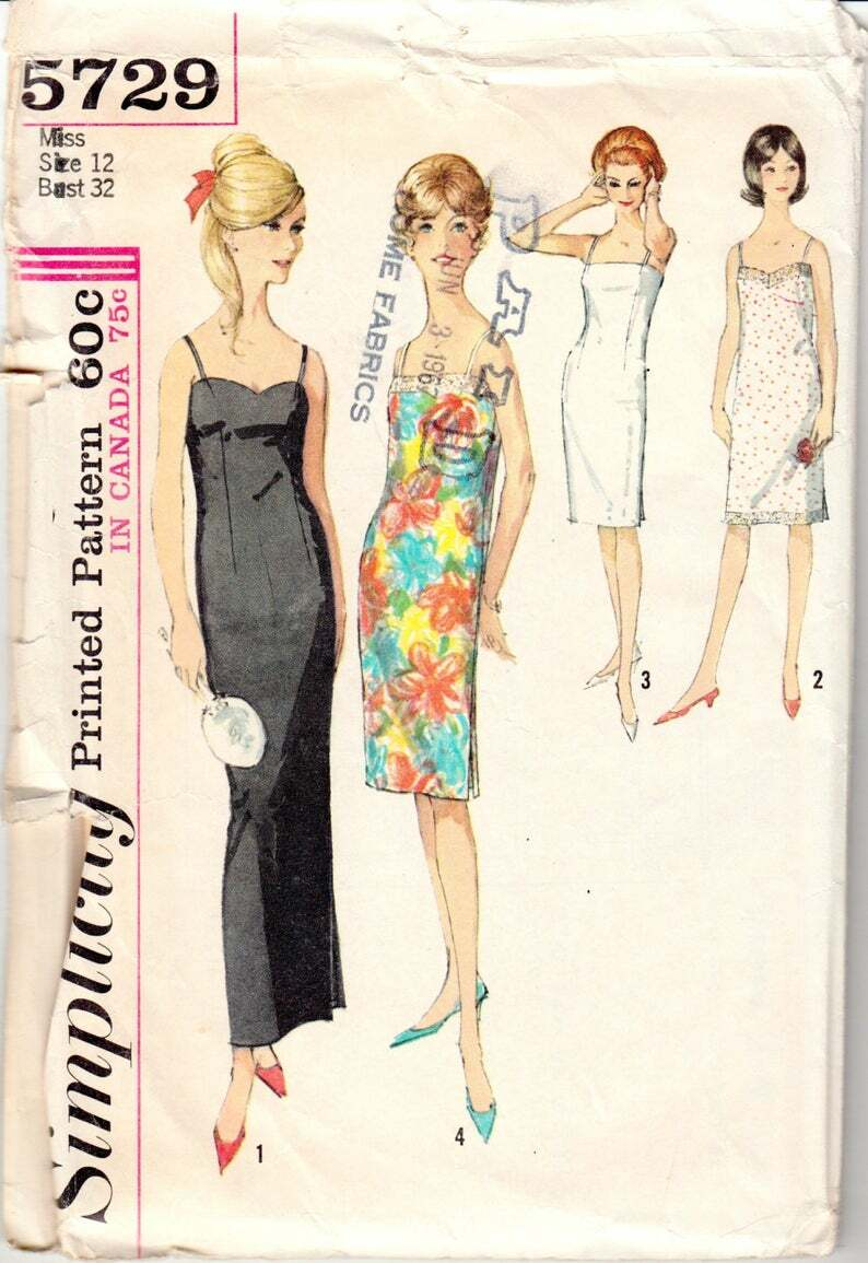 Vintage Sewing Pattern Beautiful 1960's Ladies' image 0