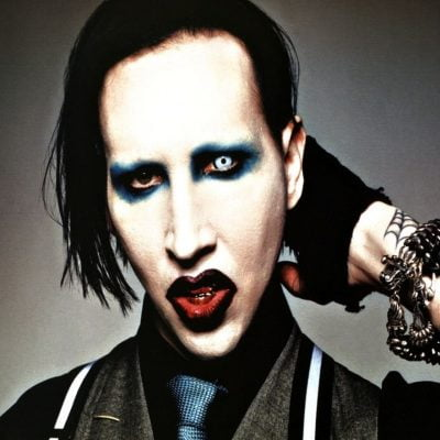 80s Makeup Guide: Marilyn Manson With vs. Without Makeup
