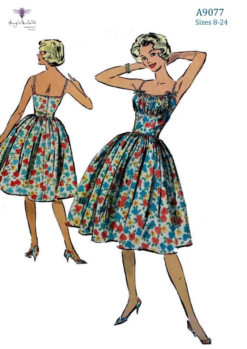 Vintage 1950's 50s Sewing Pattern: Rockabilly Pinup  image 0